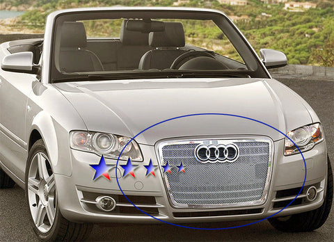 APS B75521T Mesh Grille for Audi A4 (Chrome) - Main Upper