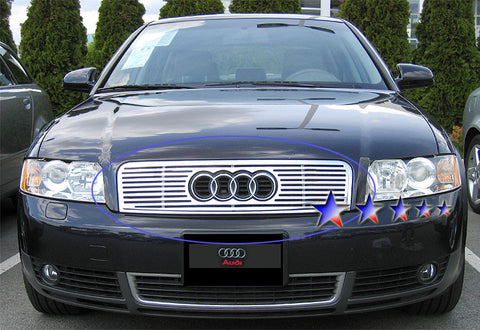 APS B95500A Perimeter Grille for Audi A4 (Polished) - Main Upper
