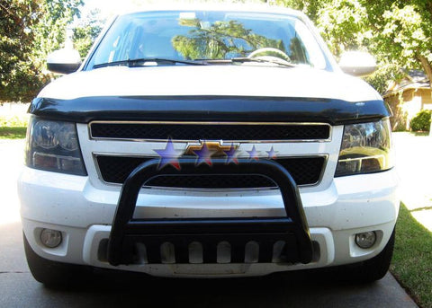 APS BB-CAK007B Bull Bar for Cadillac Escalade, Chevrolet Avalanche/Suburban/Tahoe, GMC Yukon (Black Powder Coated)