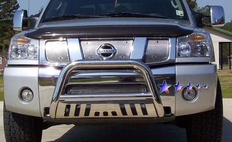 APS BB-NAK021S Bull Bar for Nissan Armada/Titan (Polished)
