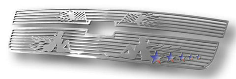 APS C25306B Symbolic Grille for Chevrolet Silverado (Polished) - Main Upper