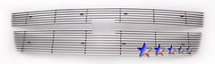 APS C65306A Aluminum Billet Grille for Chevrolet Silverado (Polished) - Main Upper