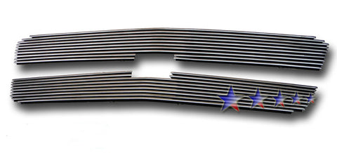 APS C65717K Aluminum Wide Grille for Chevrolet Avalanche/Silverado (Polished) - Main Upper