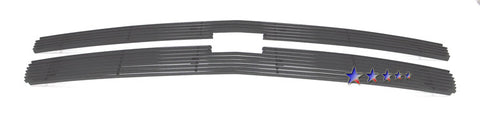 APS C65766H Black Aluminum Billet Grille for Chevrolet Silverado (Black Powder Coated) - Main Upper
