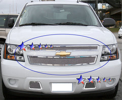 APS C76451T Mesh Grille for Chevrolet Avalanche/Suburban/Tahoe (Chrome) - Main Upper
