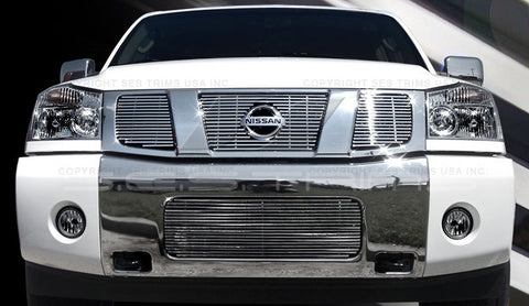 Trim Illusion CG106A Billet Grilles for Nissan Armada/Titan (Chrome Plated SS)