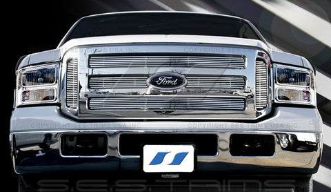 Trim Illusion CG113 Billet Grilles for Ford F-250/Excursion/F-350 (Chrome Plated SS)