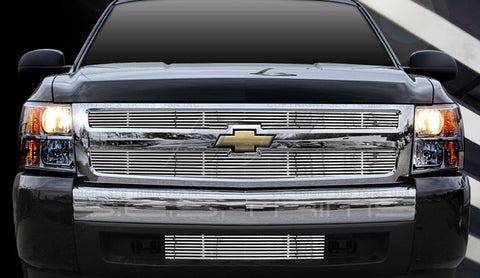 Trim Illusion CG153B Billet Grilles for Chevrolet Silverado (Chrome Plated SS)