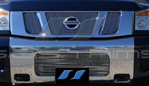 Trim Illusion CG187 Billet Grilles for Nissan Titan (Chrome Plated SS)