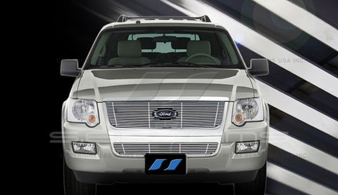 Trim Illusion CG222A/B Billet Grilles for Ford Explorer (Chrome Plated SS)