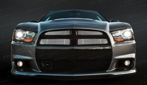 Trim Illusion CG241A Billet Grilles for Dodge Charger (Chrome Plated SS)
