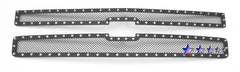 APS CL5774H Rivet Grille for Chevrolet Silverado (Black Powder Coated) - Main Upper