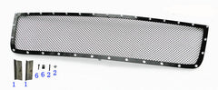 APS CL6576H Rivet Grille for Chevrolet Silverado (Black Powder Coated) - Main Upper