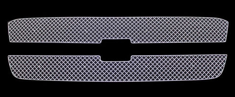 APS CX5717S X Mesh Grille for Chevrolet Avalanche/Silverado (Chrome) - Main Upper