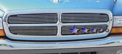 APS D65730A Aluminum Billet Grille for Dodge Dakota/Durango (Polished) - Main Upper