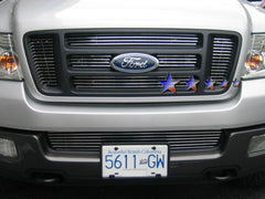 APS F65726A Aluminum Billet Grille for Ford F-150 (Polished) - Main Upper