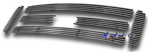 APS F65799A Aluminum Billet Grille for Ford Excursion/F-250/F-350/F-450/F-550 (Polished) - Main Upper