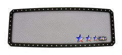 APS FL6828H Rivet Grille for Ford F-250/F-350/F-450/F-550 (Black Powder Coated) - Main Upper