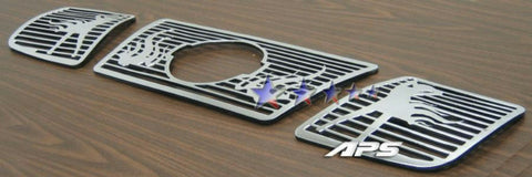 APS N25412B Symbolic Grille for Nissan Armada/Titan (Polished) - Main Upper