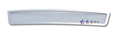 APS N76749T Mesh Grille for Nissan Sentra (Chrome) - Lower Bumper