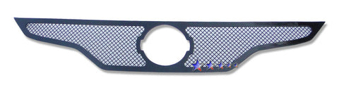 APS N76752H Black Wire Mesh Grille for Nissan Altima (Black Powder Coated) - Main Upper