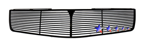 APS N95408H Black Perimeter Grille for Nissan Maxima (Black Powder Coated) - Main Upper