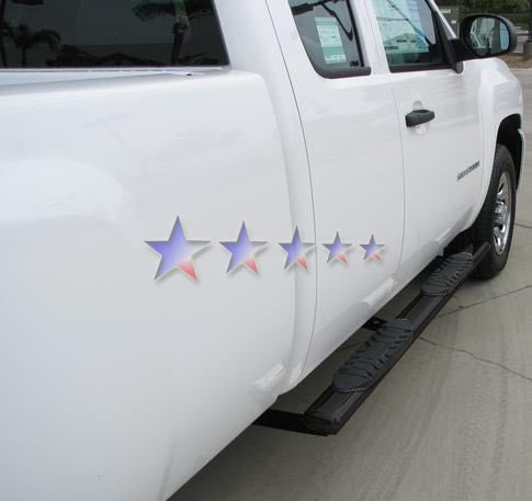 APS NB-C5004B Nerf Bars 5 Inch Oval for Chevrolet Silverado, GMC ...
