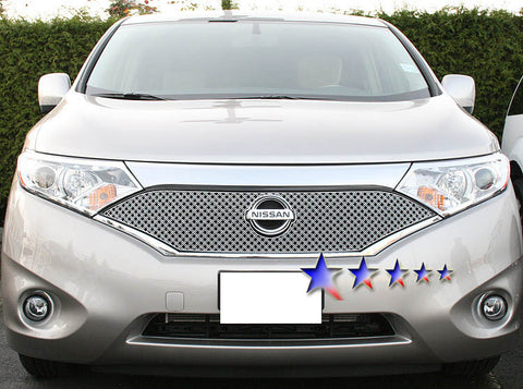 APS NE5905S X Mesh Grille for Nissan Quest (Chrome) - Main Upper