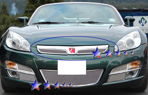 APS S77618T Mesh Grille for Saturn Sky (Chrome) - Main Upper
