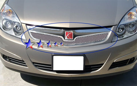 APS S77621T Mesh Grille for Saturn Aura (Chrome) - Main Upper