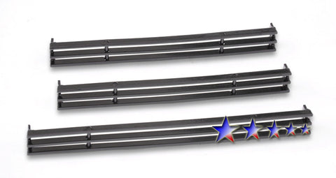 APS T65459H Black Aluminum Billet Grille for Toyota Tundra (Black Powder Coated) - Lower Bumper