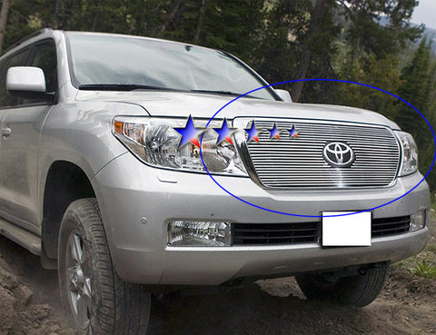 APS T66548A Aluminum Billet Grille for Toyota Land Cruiser (Polished) - Main Upper