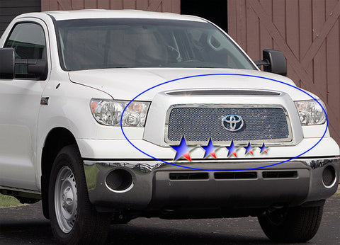 APS T75464T Mesh Grille for Toyota Tundra (Chrome) - Main Upper