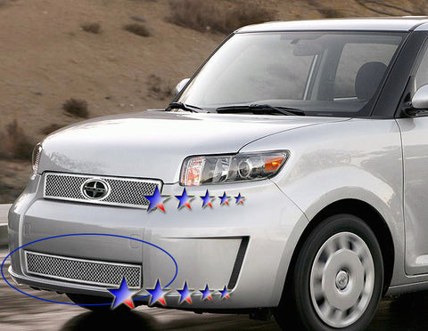 APS T76550T Mesh Grille for Scion XB (Chrome) - Lower Bumper