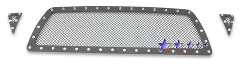 APS TL6456H Rivet Grille for Toyota Tacoma (Black Powder Coated) - Main Upper
