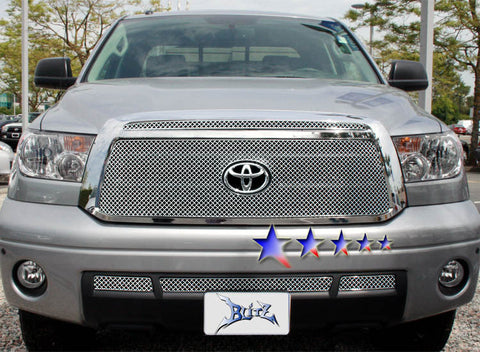 APS TX6719S X Mesh Grille for Toyota Tundra (Chrome) - Lower Bumper
