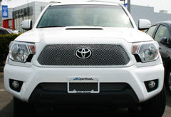 APS TX6938S X Mesh Grille for Toyota Tacoma (Chrome) - Lower Bumper