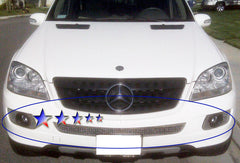 APS Z75512T Mesh Grille for Mercedes-Benz ML350/ML500 (Chrome) - Lower Bumper