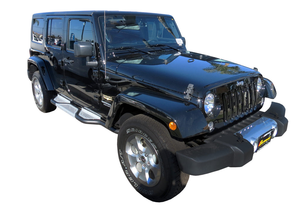 SteelCraft EVO12190 Running Boards For Jeep Wrangler (Black)