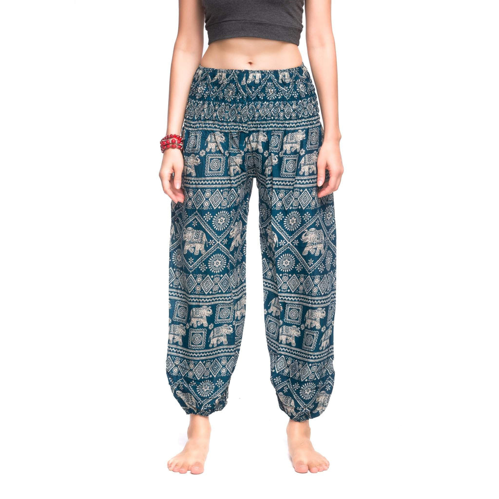 Agra Elephant Pants Elepanta Elastic Waist Pants - Buy Today Elephant Pants Jewelry And Bohemian Clothes Handmade In Thailand Help To Save The Elephants FairTrade And Vegan