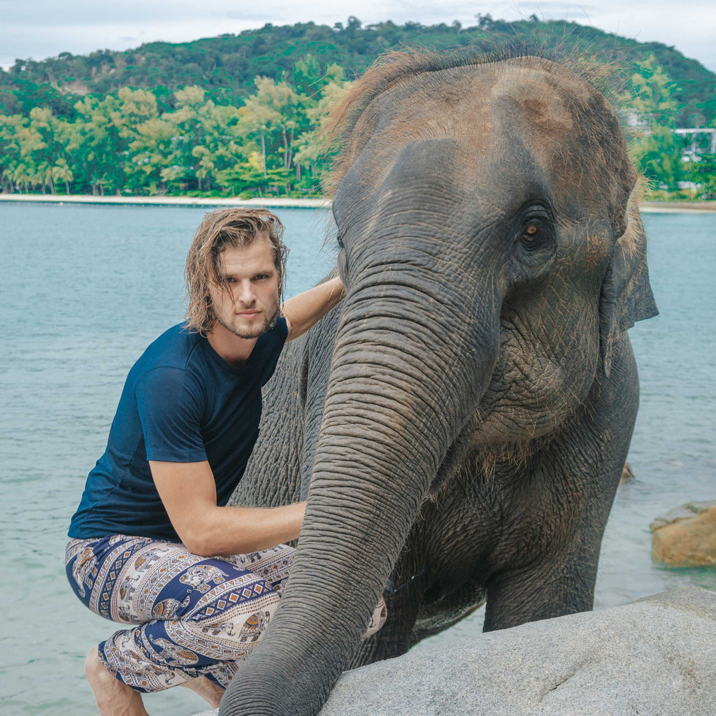 Angkor Pants Elepanta Men's Pants - Buy Today Elephant Pants Jewelry And Bohemian Clothes Handmade In Thailand Help To Save The Elephants FairTrade And Vegan