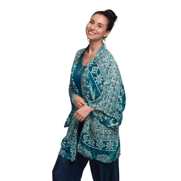 Colombo Kimono Elepanta Women's Kimono - Buy Today Elephant Pants Jewelry And Bohemian Clothes Handmade In Thailand Help To Save The Elephants FairTrade And Vegan