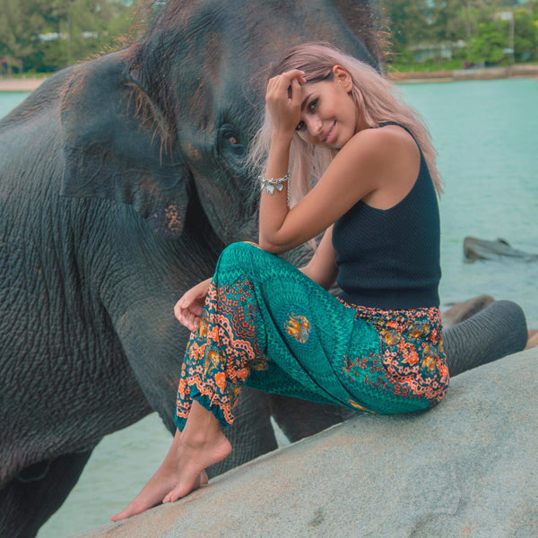 Jaipur Pants Elepanta Women's Pants - Buy Today Elephant Pants Jewelry And Bohemian Clothes Handmade In Thailand Help To Save The Elephants FairTrade And Vegan