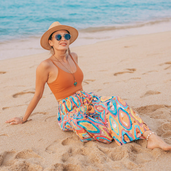 MALAGA PALAZZO Elepanta Palazzo | Casual Pants - Buy Today Elephant Pants Jewelry And Bohemian Clothes Handmade In Thailand Help To Save The Elephants FairTrade And Vegan
