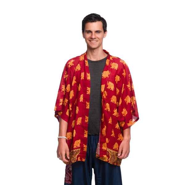 SAVANNA ELEPHANT KIMONO Elepanta Beach Kimono | Unisex - Buy Today Elephant Pants Jewelry And Bohemian Clothes Handmade In Thailand Help To Save The Elephants FairTrade And Vegan