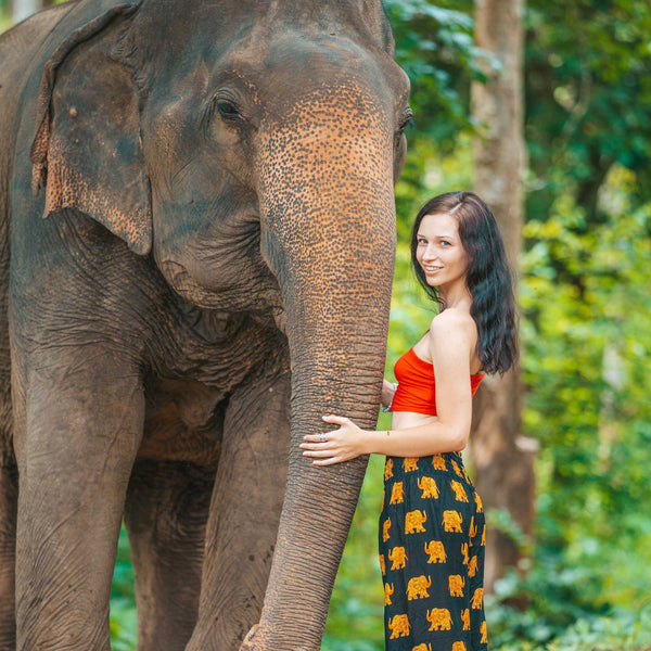 SAVANNA ELEPHANT PANTS - BLACK Elepanta Women's Pants - Buy Today Elephant Pants Jewelry And Bohemian Clothes Handmade In Thailand Help To Save The Elephants FairTrade And Vegan
