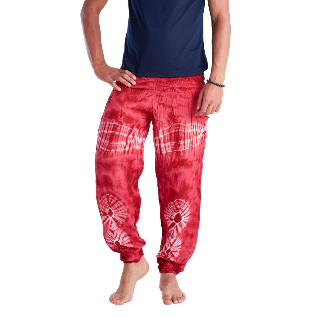 TIE DYE PANTS - RED