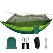 Load image into Gallery viewer, 1-2 Person Portable Outdoor Camping Hammock With Mosquito Net.