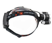 Load image into Gallery viewer, SUPER HEADLAMP - 12000 LUMEN, XM-L T6, 2X18650 BATTERY + CAR & WALL CHARGERS