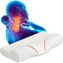Load image into Gallery viewer, Contoured Cervical Memory Foam Neck Pain Pillow